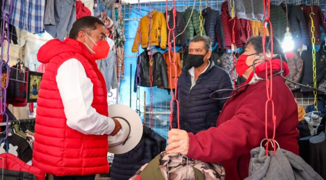 Comerciantes de Tepeji se suman al proyecto de Chava Jiménez