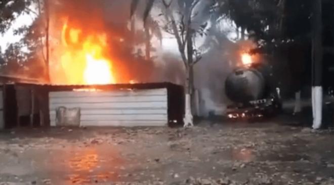 Estruendosa explosión en taller que almacenaba huachicol