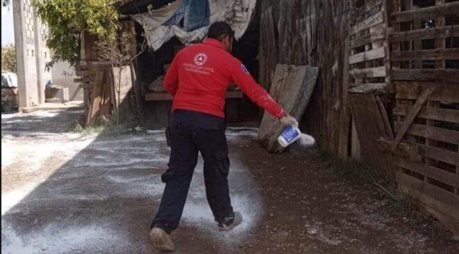 Desinfectaron 18 viviendas en Tezontepec